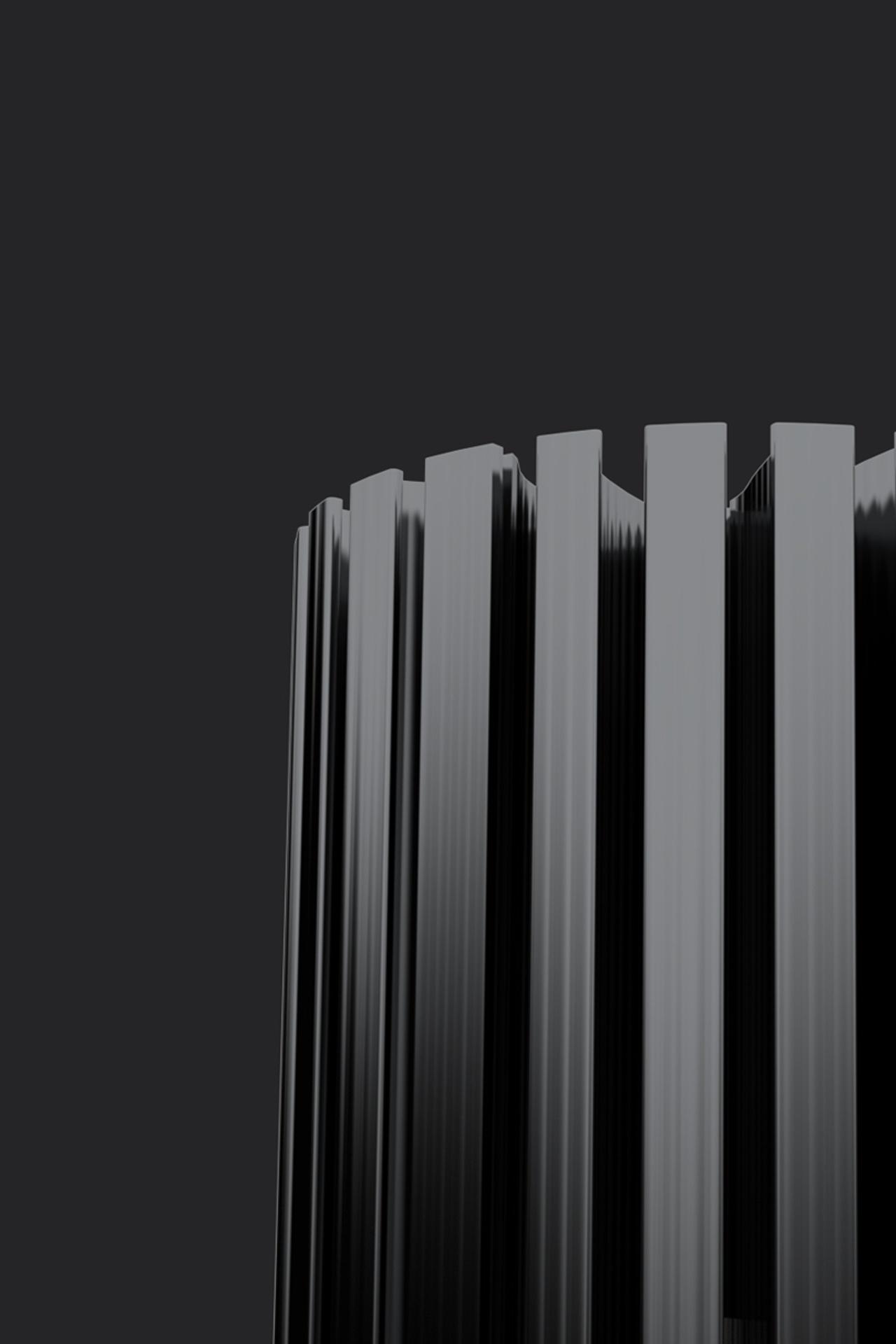 black light on black background